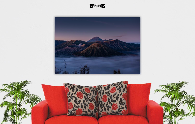 wall photo canvas gunung bromo